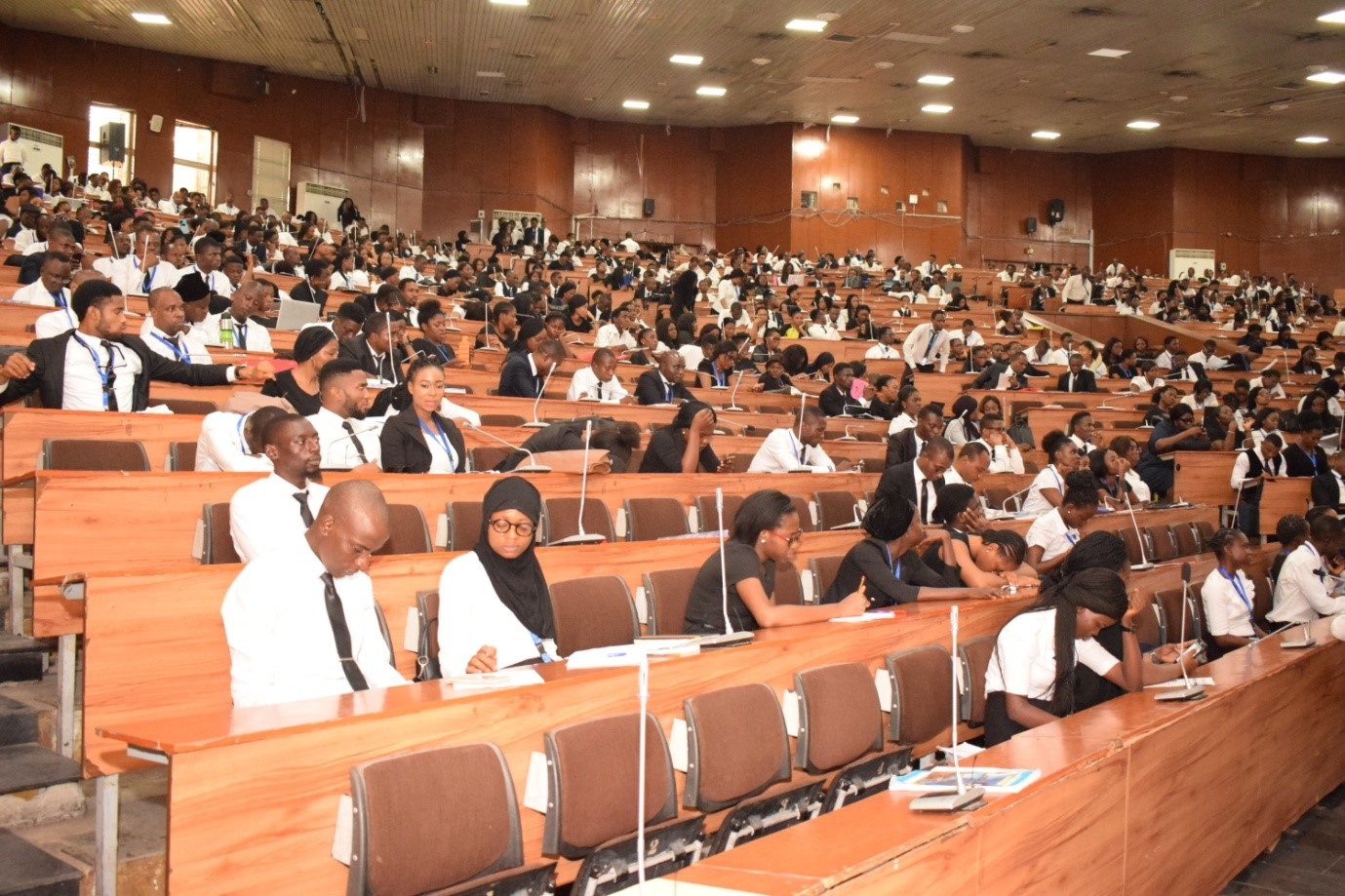 Cross-section of students and attendees